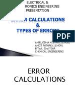 Error Calculations & Types of Errors