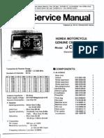 Honda Goldwing Clarion CB Service Manual-50870