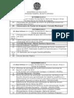 Calendário Acadêmico 2012-2013