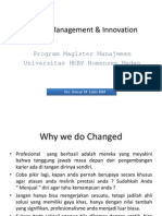 Change Management & Innovation