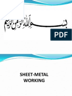 Sheet metal working
