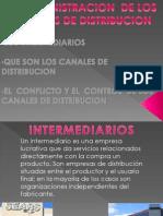 Canales de Distri. Intermediarios