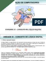 Unidade III - Conceito de Logica Digital