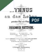 Nietzsche, Hymnus an das Leben