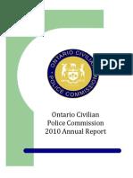 Ontario CivilianPolice Commission2010 Annual Report