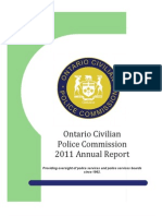 Ontario Civilian Police Commission 2011 Annual Report