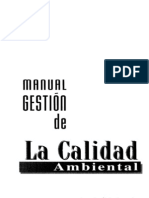 Manual Gestion de La Calidad Ambiental
