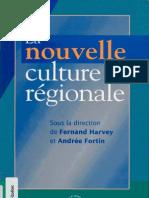 Harvey, F., Fortin, A. - La nouvelle culture régionale