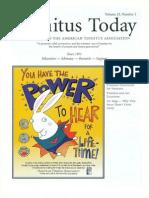 Tinnitus Today June 1998 Vol 23, No 2