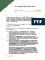 Conectar Con Bases de Datos en ASP