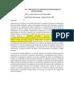 Flujo de trabajo y recursos para la función de análisis de operaciones