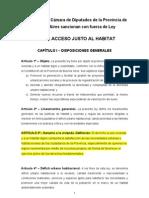 Ley de Hábitat Provincia de Buenos Aires