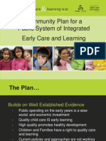 Community Plan for a Public System of Integrated Early Care and Learning in British Columbia
