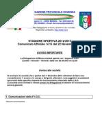 Comunicato 15 Monza