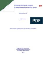 Parte IV Guía Formato y Normas APA
