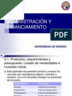 Administracion y Financiamiento