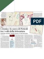 Pietro Citati Sul Ritrattista Dei Grandi Scrittori Tullio Pericoli - Corriere Della Sera 30.11.2012