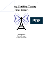 Usability Final Report