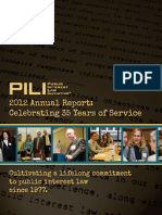 Public Interest Law Initiative (PILI) FY 2012 Annual Report
