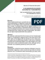 A vulgarizaçâo da noçäo dos Direitos Fundamentais - Marcelo Di Rezende Bernardes