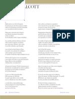 Derek Walcott, El Faro