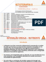 DIETOTERAPIA II Aula 15 Interacao Droga Nutriente