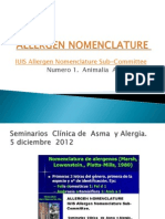 Allergen Nomenclature Jhs
