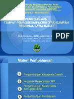 Pengelolaan Tempat Pemrosesan Akhir (TPA) Sampah Regional Jawa Barat