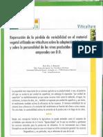 Repercusión de la pérdida de variabilidad en el material vegetal utilizado en viticultura sobre la adaptación del cultivo y sobre la personalidad de los vinos producidos en las zonas amparadas con D.O.
