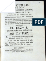 Discurso que leyó el Sr. D. Francisco Amorós, secretario de S. M. en la junta que celebró la Sociedad económica de Sanlúcar de Barrameda, 1803 con motivo de haberse recibido por Regidor de la misma ciudad el EXCmo. Sr. Generalisimo Principe de la Paz