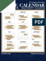 2013 Congressional Calendar for the U.S. House of Representatives