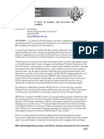 California Homeless Bill of Rights, Press Release, 2012.12.01