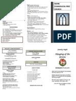 Church Bulletin- December 2 2012