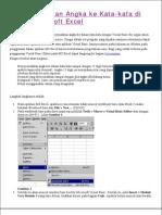 Menerjemahkan Angka Ke Kata Kata Excel