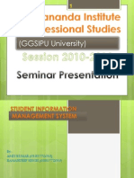 Seminar Project on Library