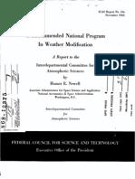 NASA Weather Modification 1966