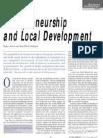 Entrepreneurship and Local Development