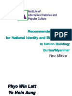 Recommended Readings for ethnic issues in Myanmar/ Burma