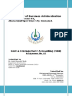 Assignment 1st_568_Cost Management Accounting
