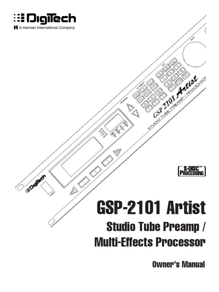digitech gsp 2101 инструкция на русском
