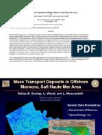 Mass Transport Deposits in Offshore Morocco, Safi Haute Mer Area
