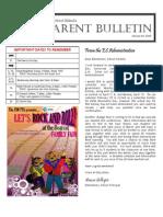 Parent Bulletin #13 January 30
