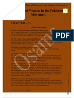 CH 7-The Role of Women in the Pakistan Movement