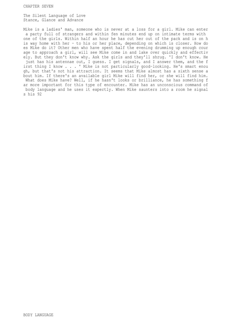 flirting moves that work body language free pdf template download