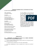 Acta Pleno 26 de Octubre de 2012