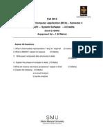 SMU Assignment BCA