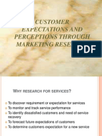 Customer expectation through Marketing Research