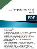 La temperatura en el Perú