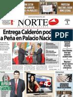 Periodico Norte de Ciudad Juárez 1 de Diciembre de 2012