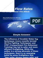Critical Flow Rates for Fire Attack